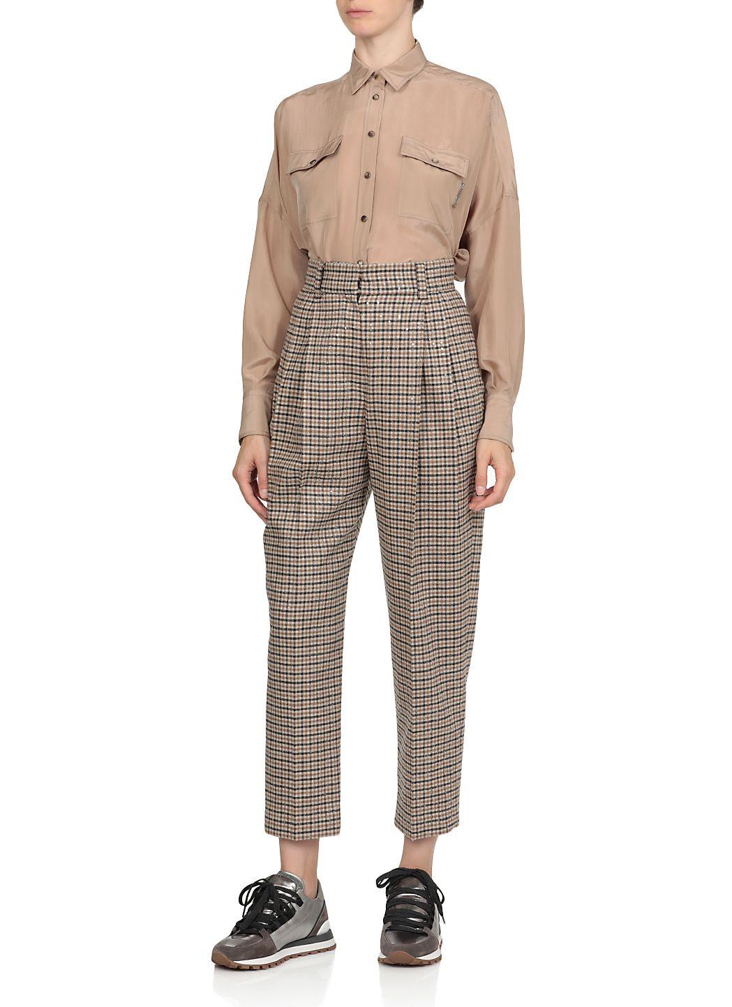 Pantalone in tweed