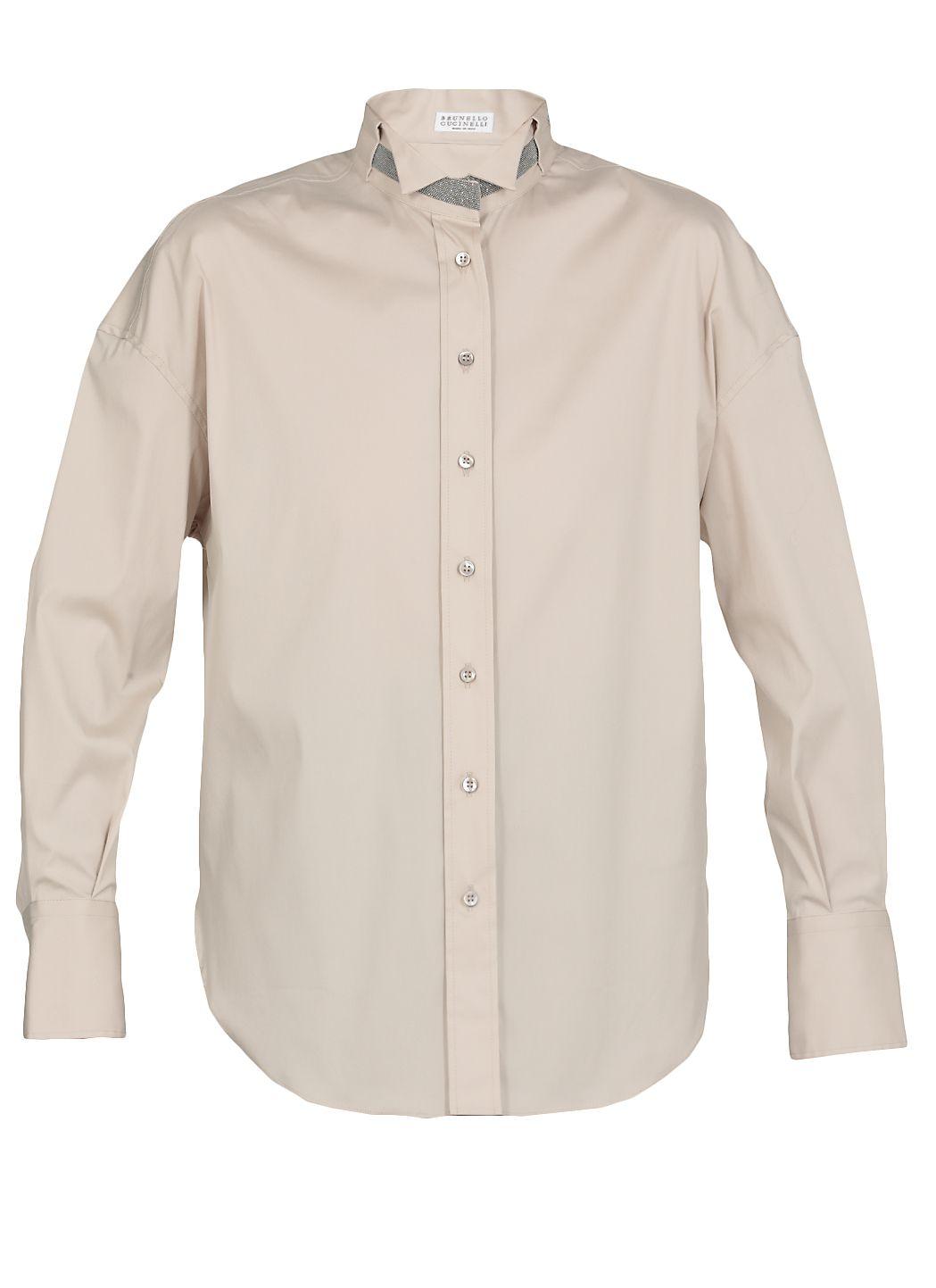 Camicia con colletto Wing Tip