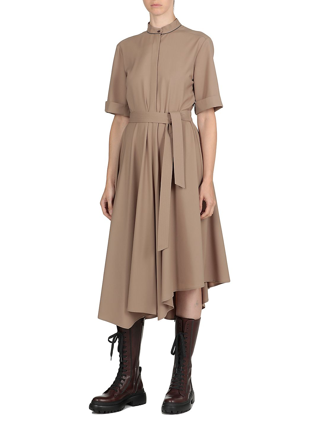 Waist belt dress