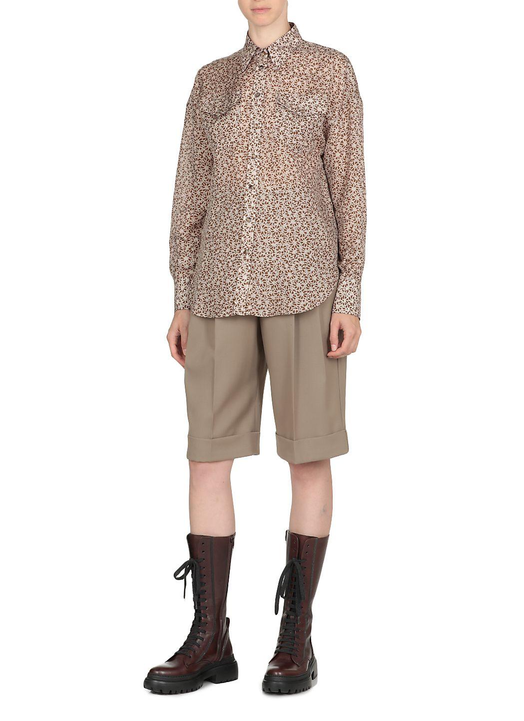 Camicia in seta con motivo floreale