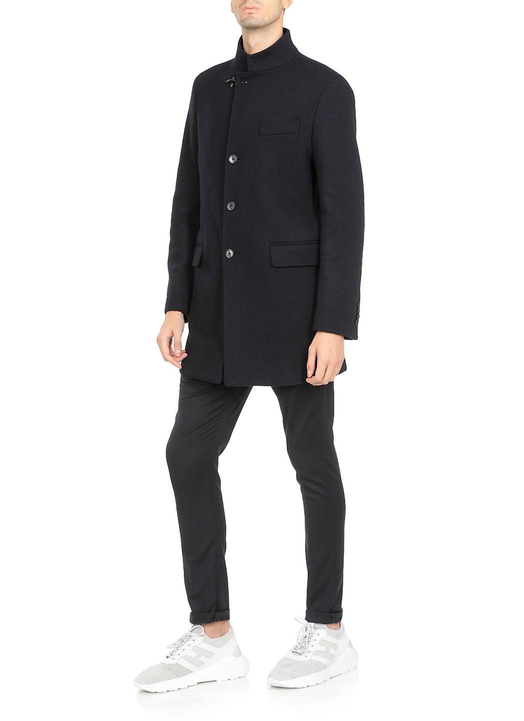 Cappotto monopetto in lana