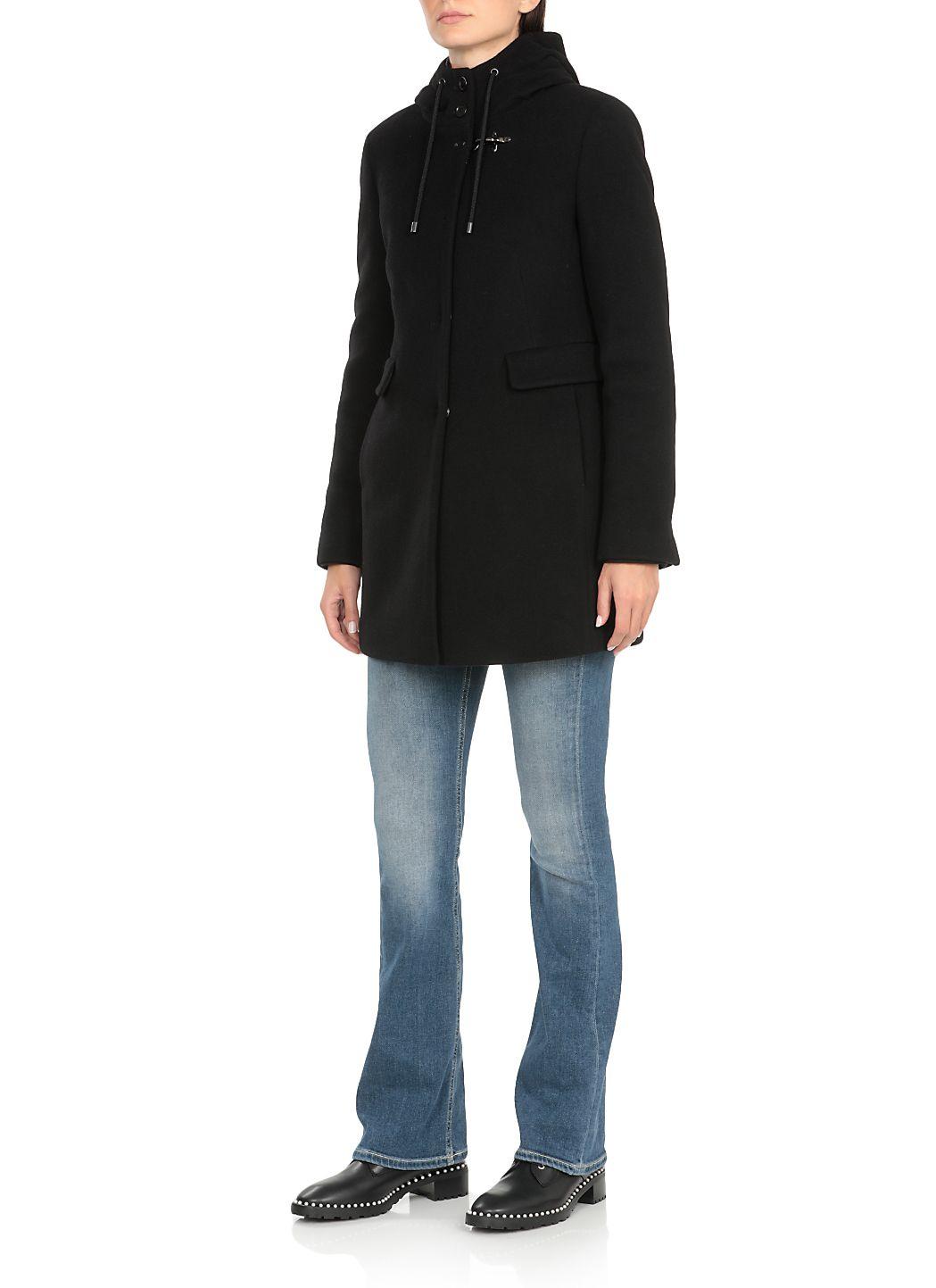 Cappotto monopetto in lana vergine