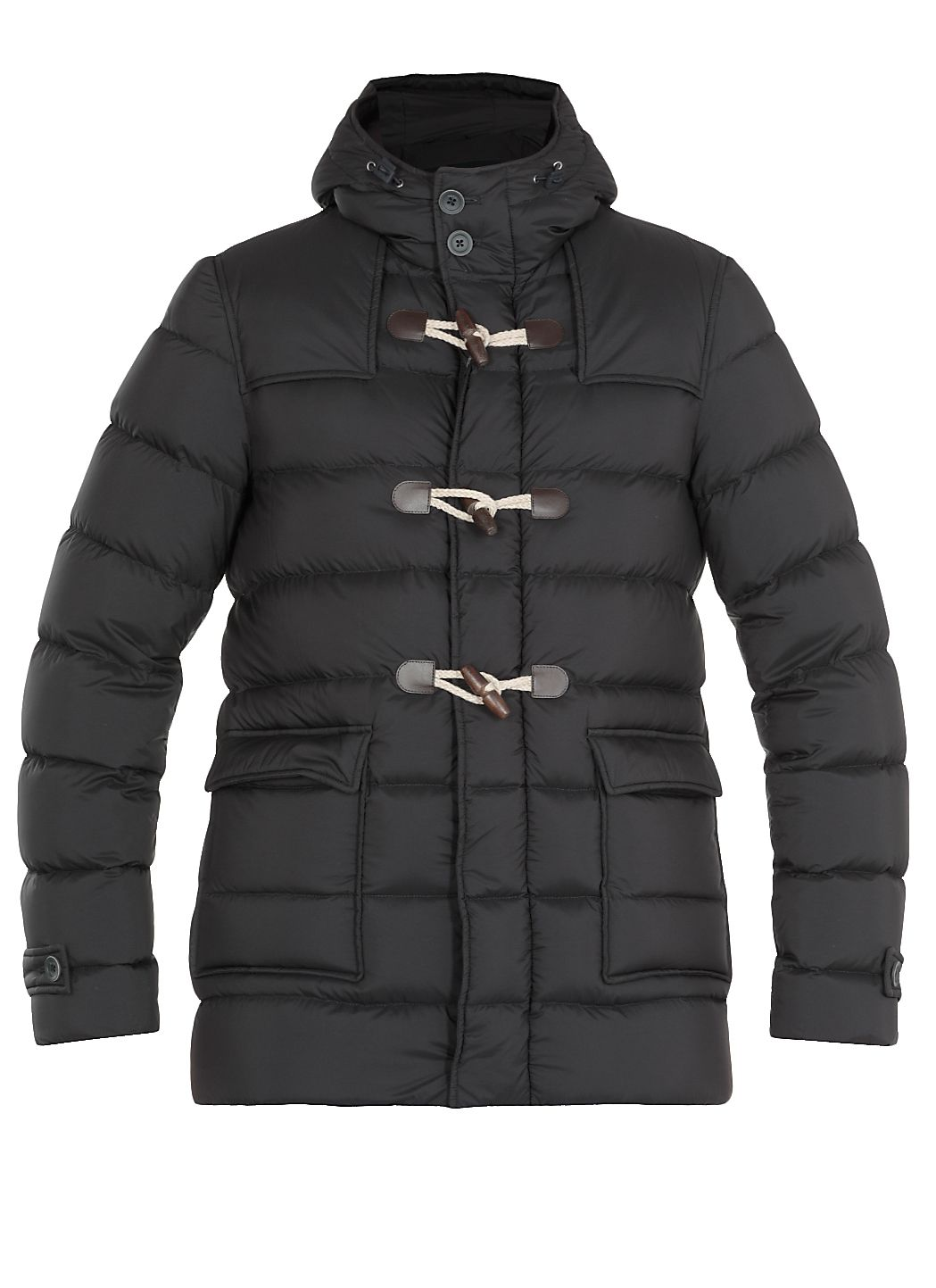 Padded and quilted down jacket