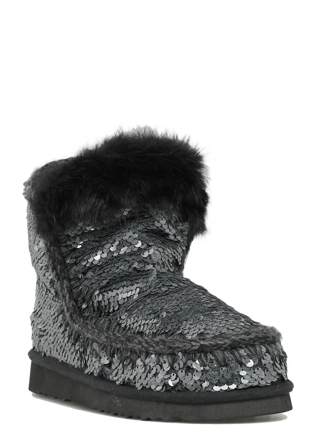 Eskimo All Sequins Rabbit Fur Trim