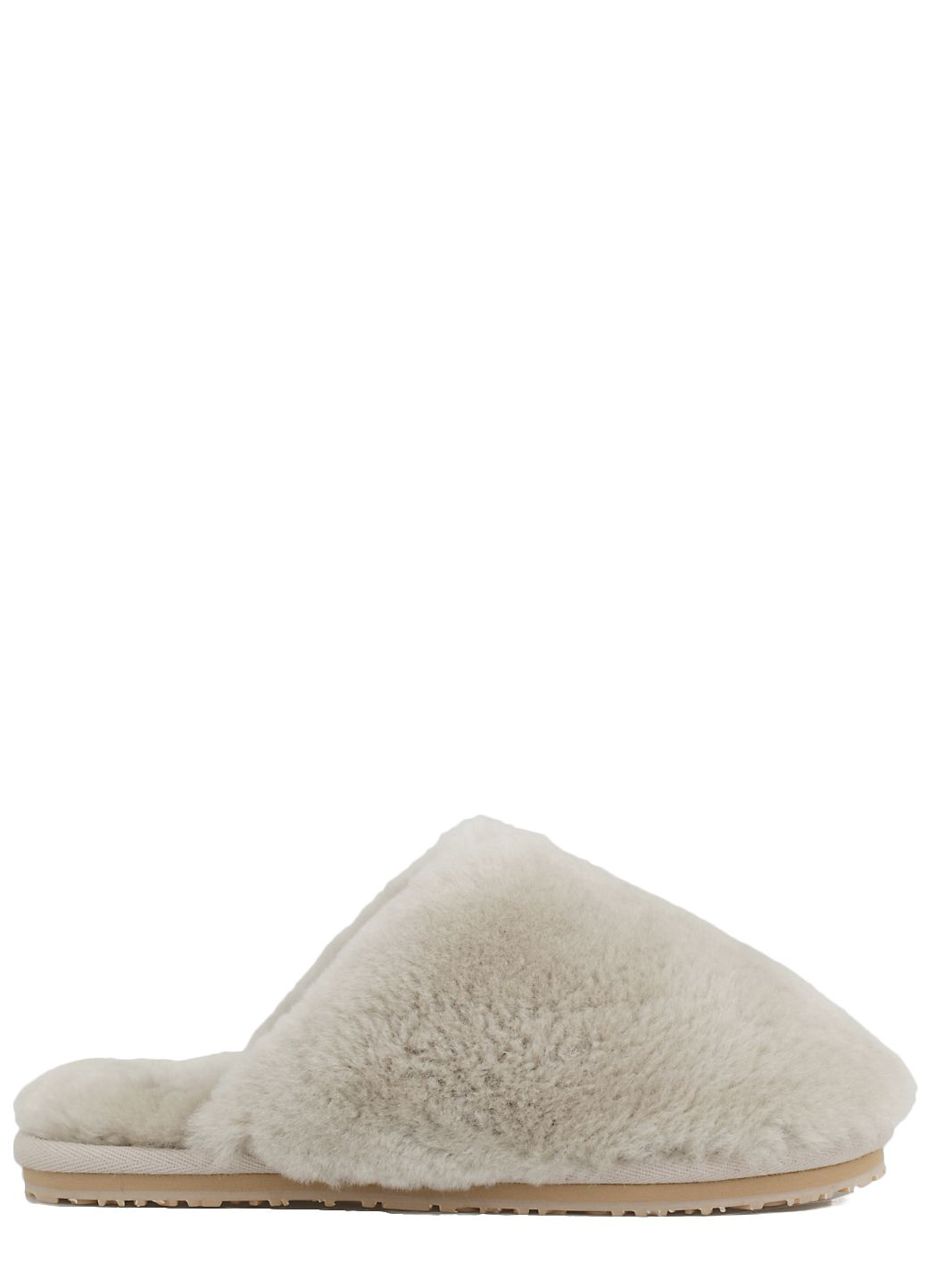 Closed toe sheepskin fur slipper