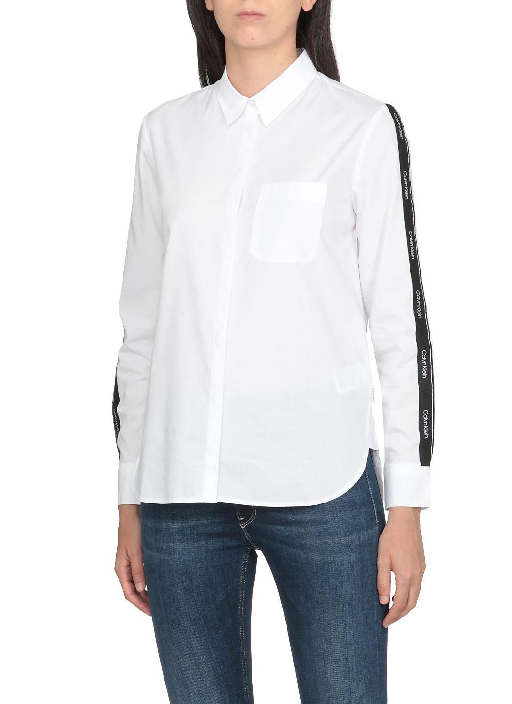 Camicia con banda logata