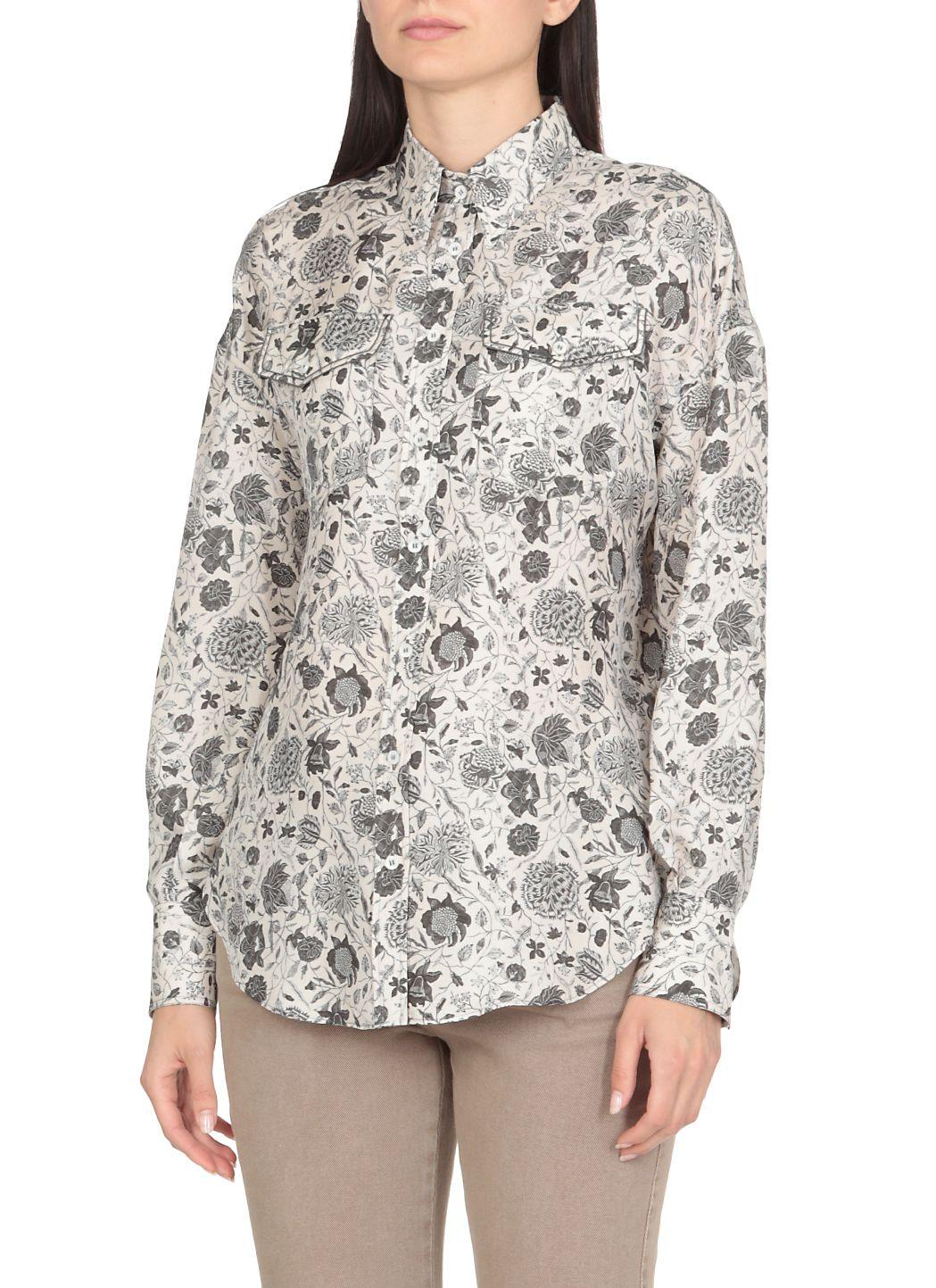 Camicia in seta con stampa florale