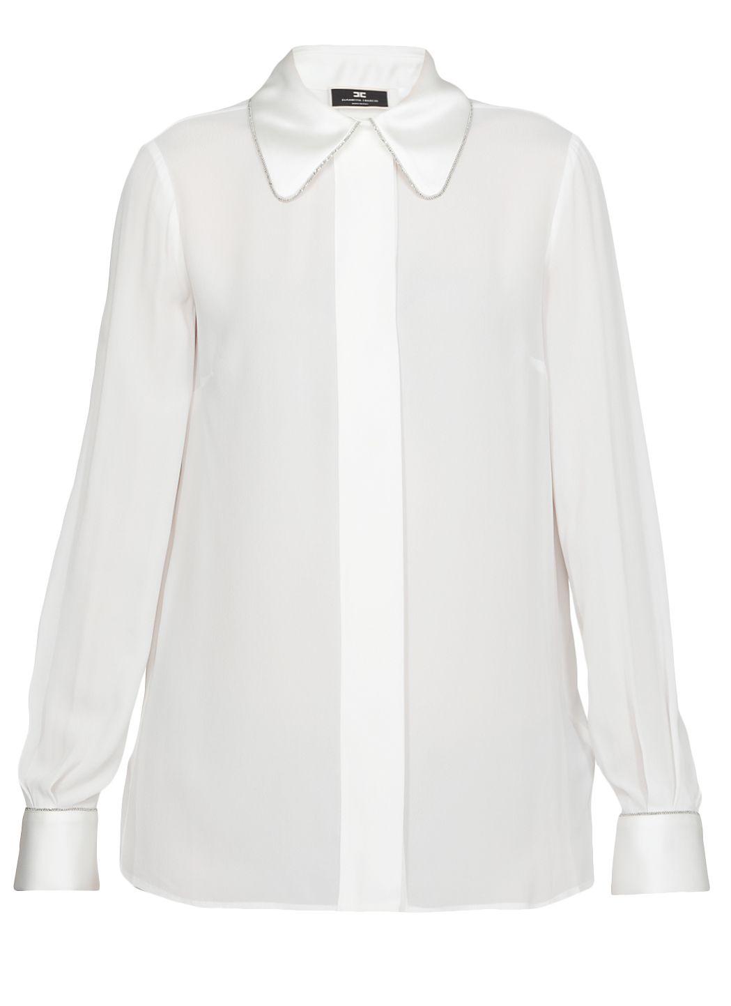 Camicia in crepe con punto luce
