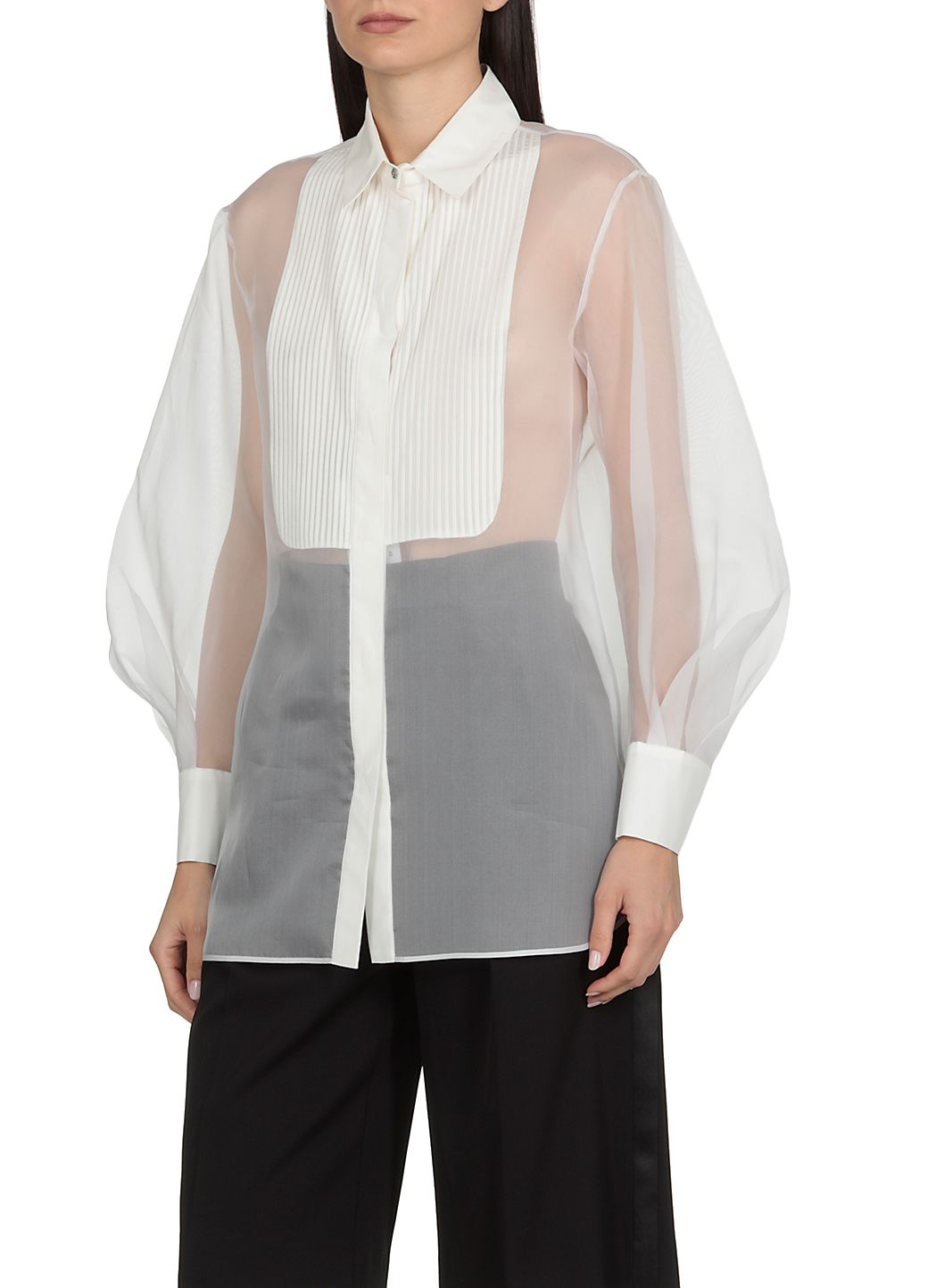 Camicia in organza di seta