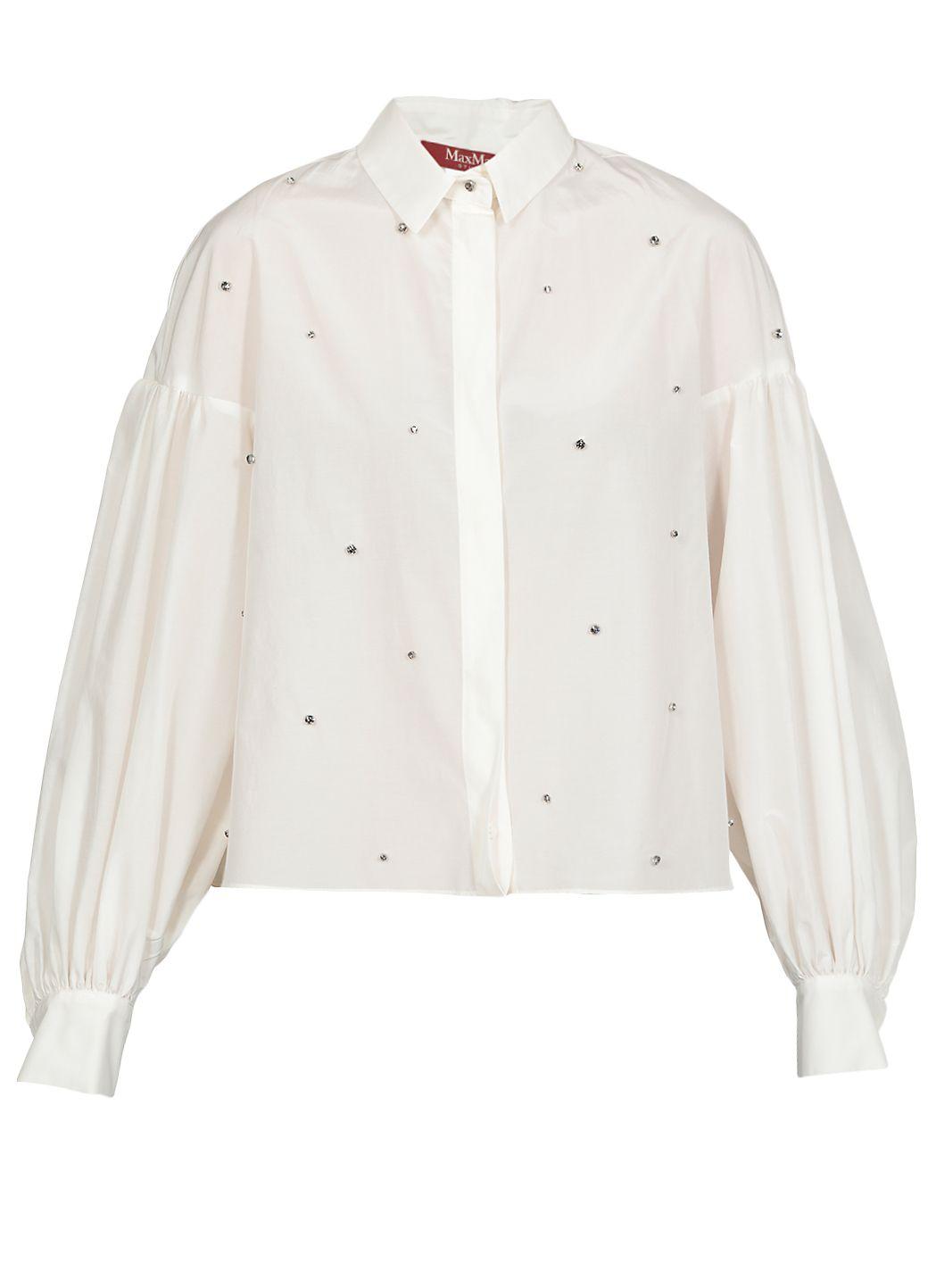 Camicia in tela di cotone e seta