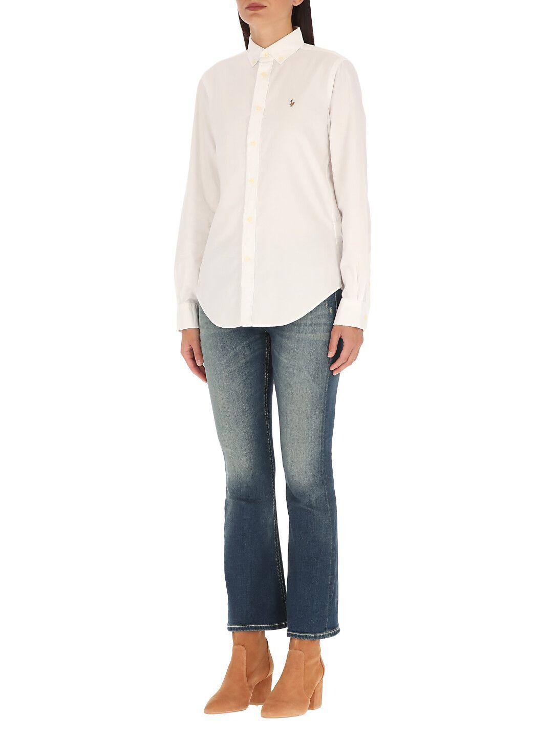 Camicia in pique di cotone