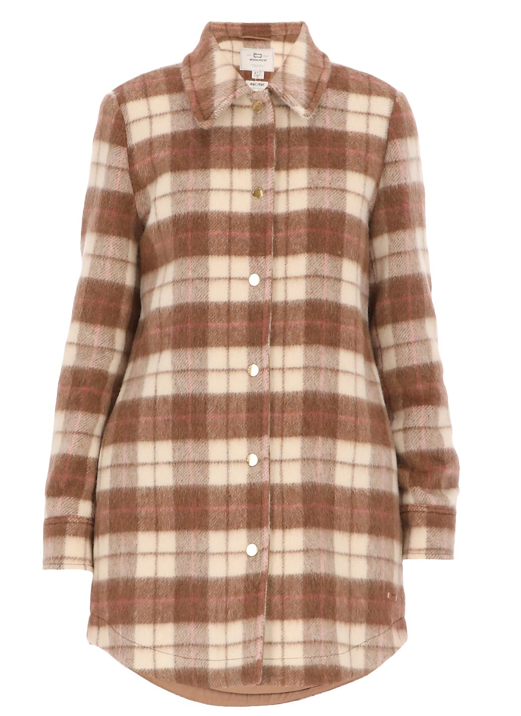 Giacca camicia in misto lana