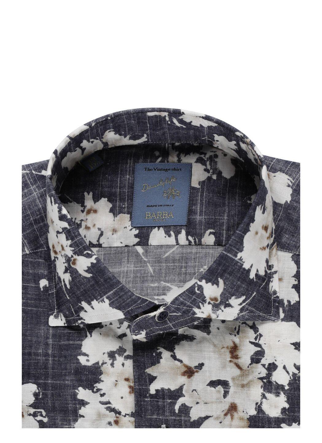 Camicia floreale in cotone