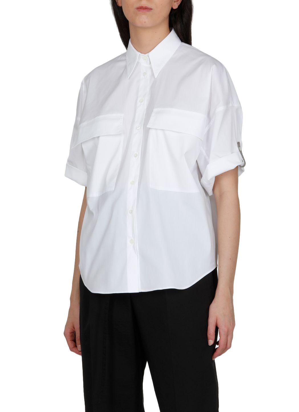 Camicia in popeline di cotone stretch