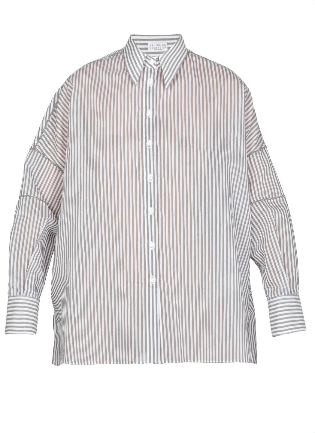 Stretch cotton poplin shirt