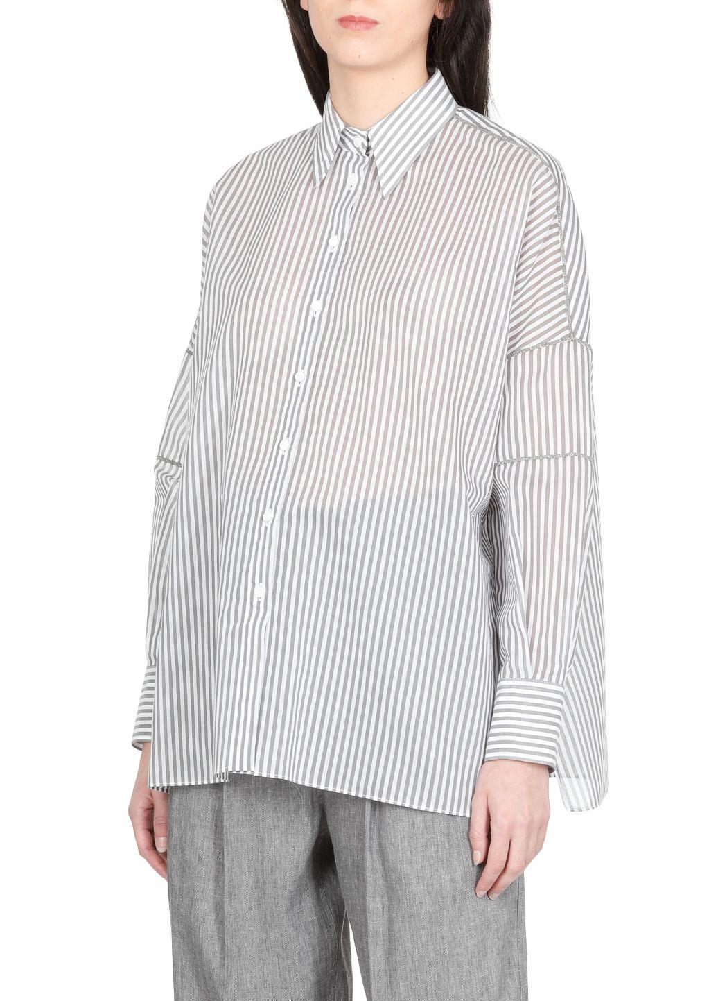 Camicia in popeline rigato di cotone