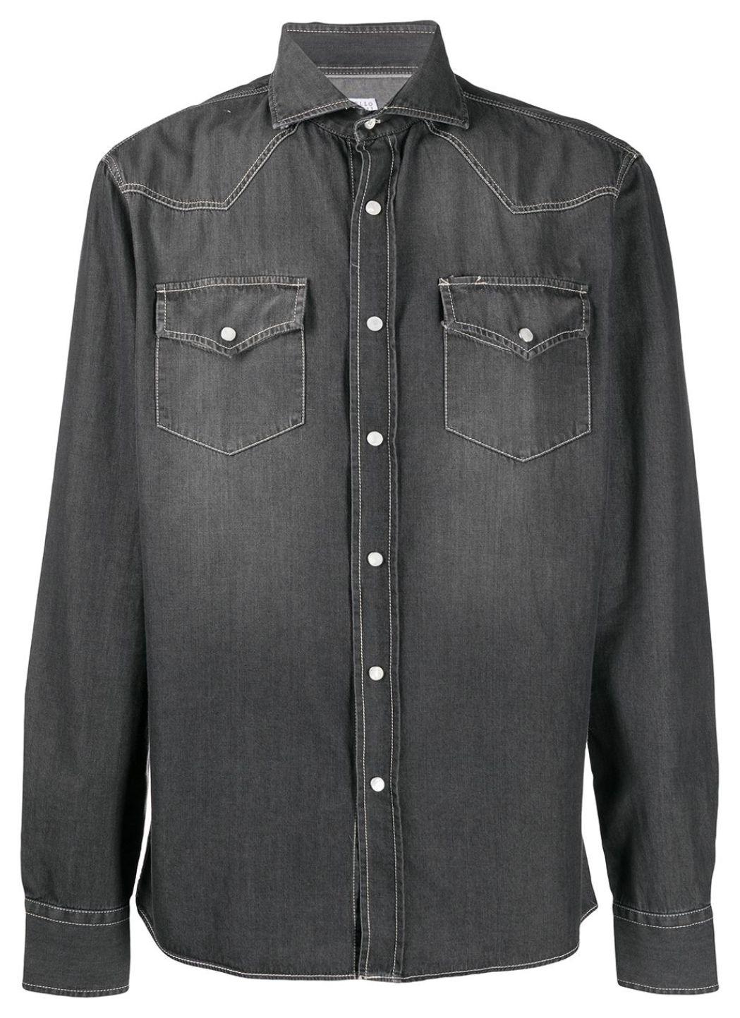 Camicia in denim grigio