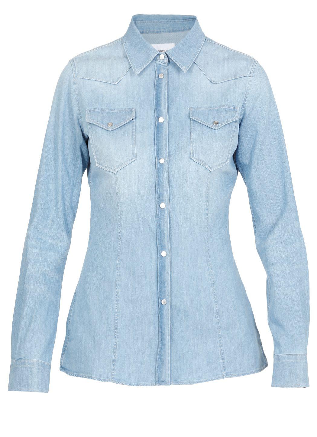 Camicia jeans in misto cotone