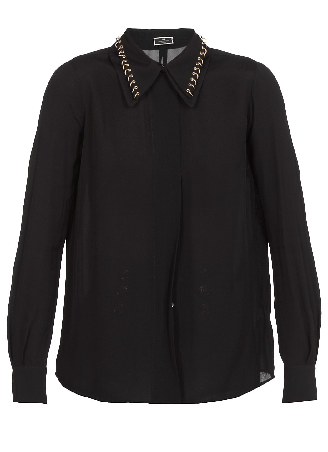 Viscose shirt with light golden studs