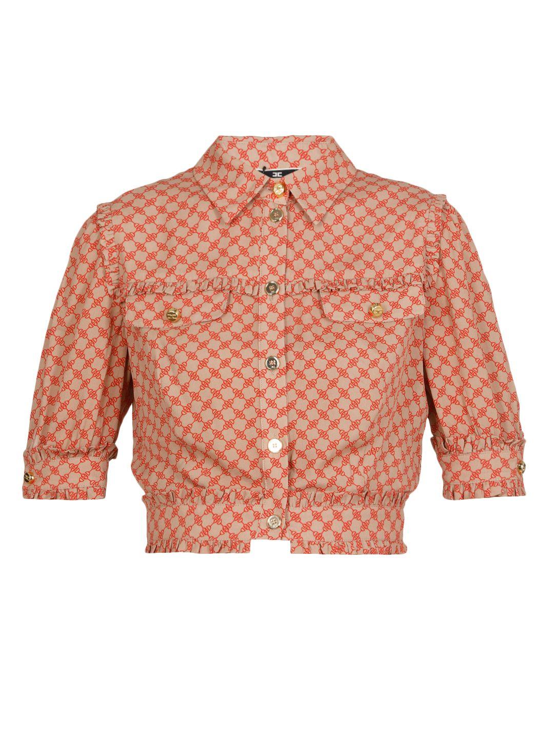 Viscose georgette cropped shirt