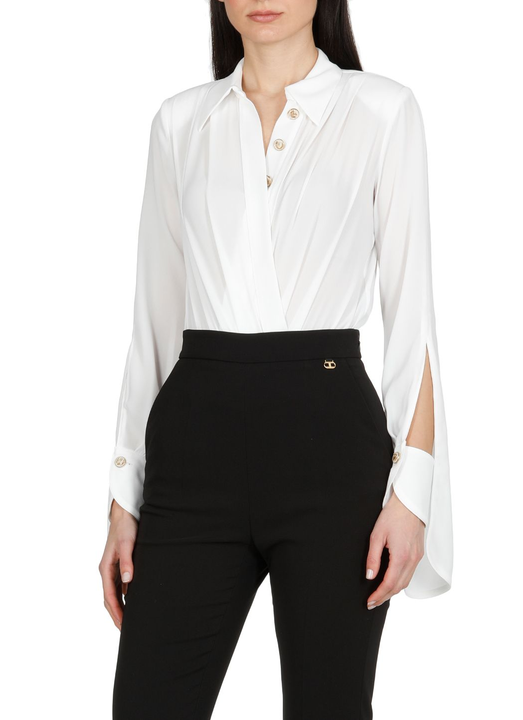 Camicia a body in georgette