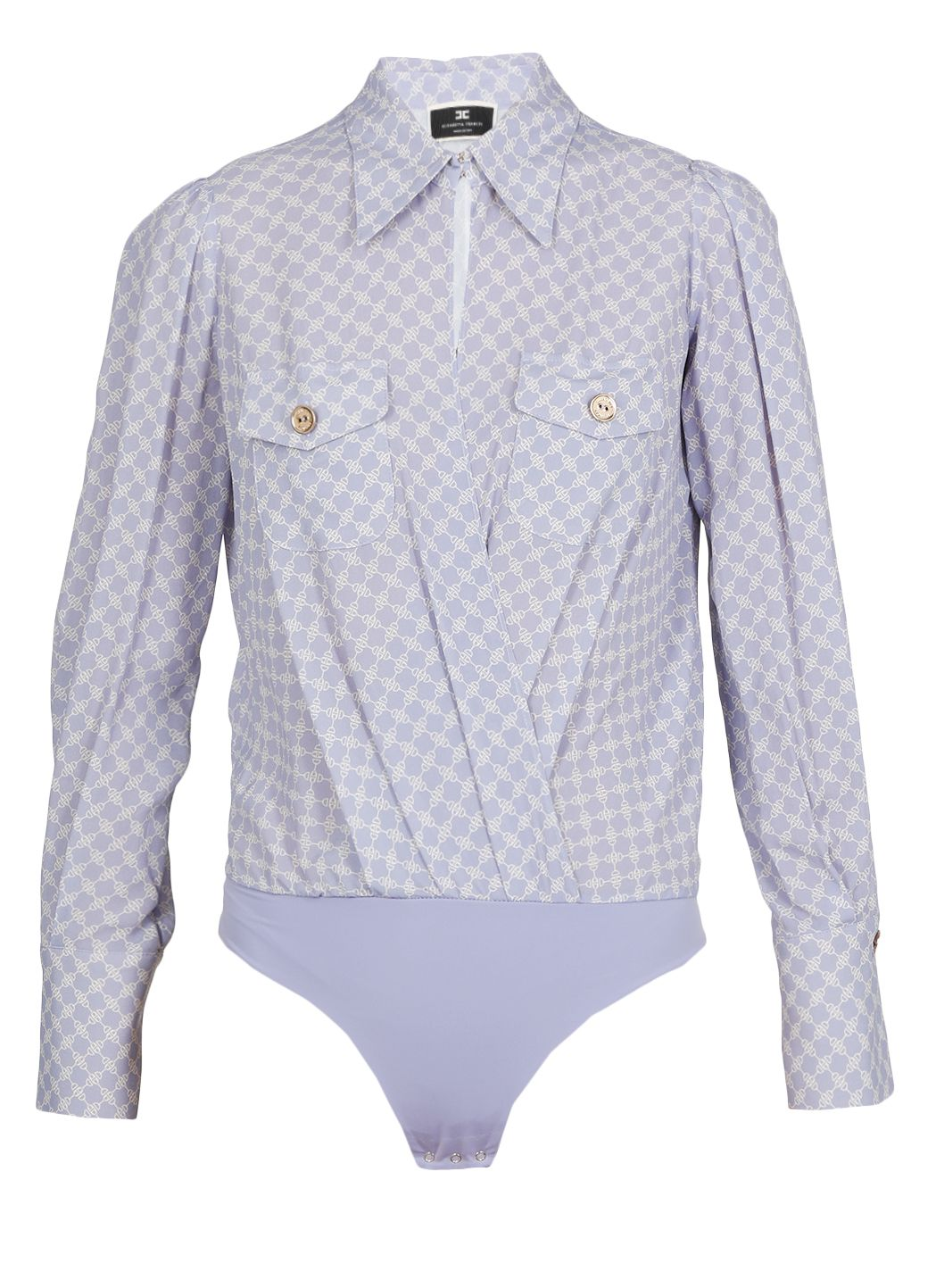 Camicia a body in georgette di viscosa