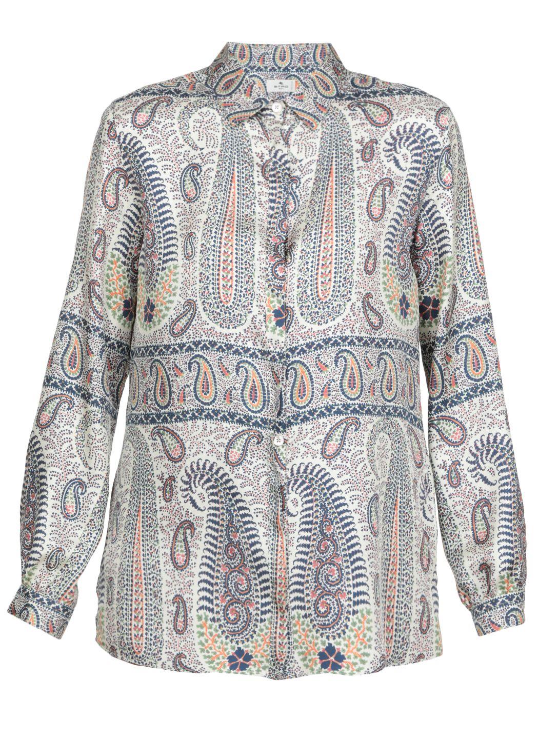 Camicia in seta con stampa Paisley