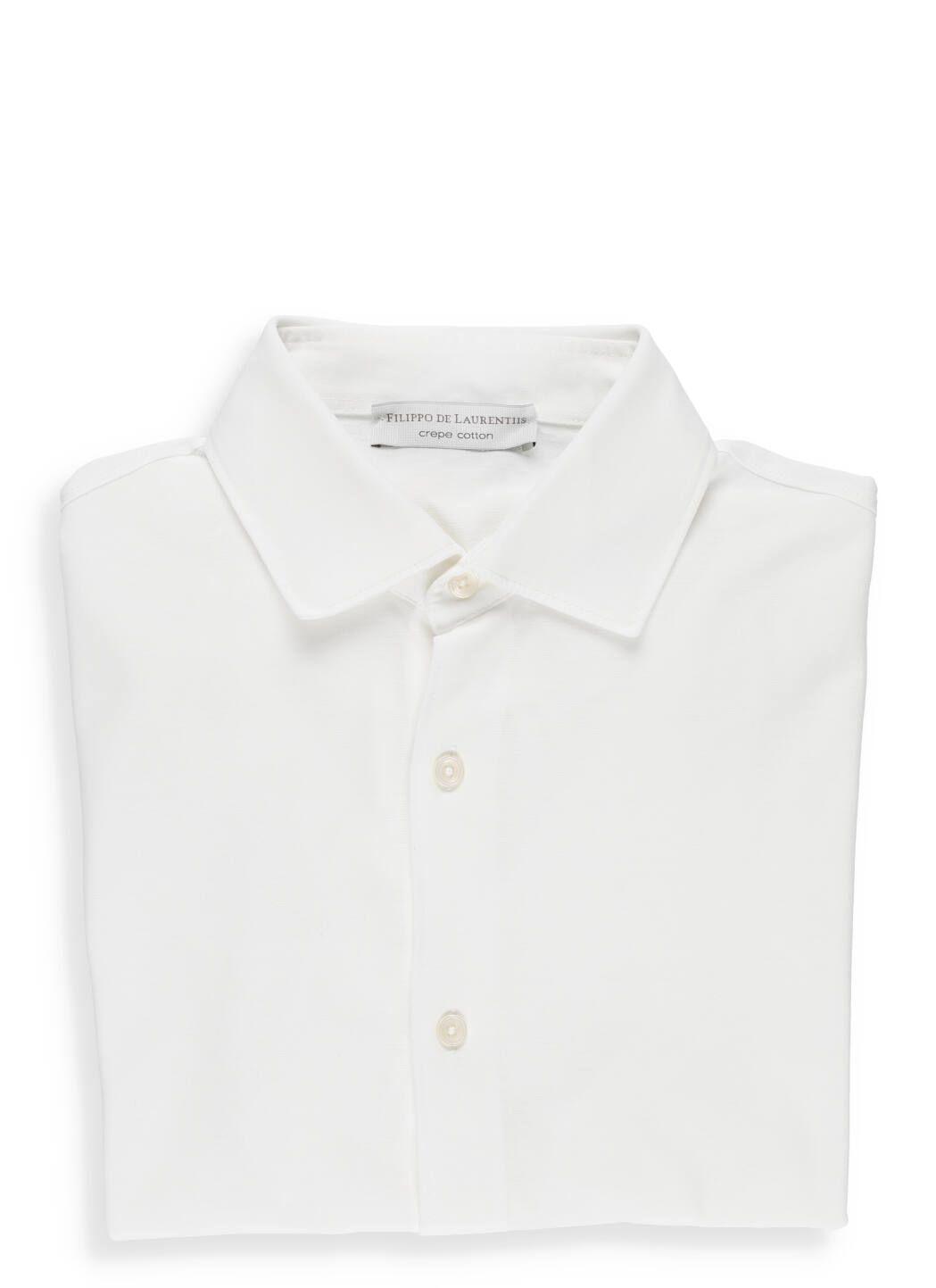 Camicia in cotone crepe