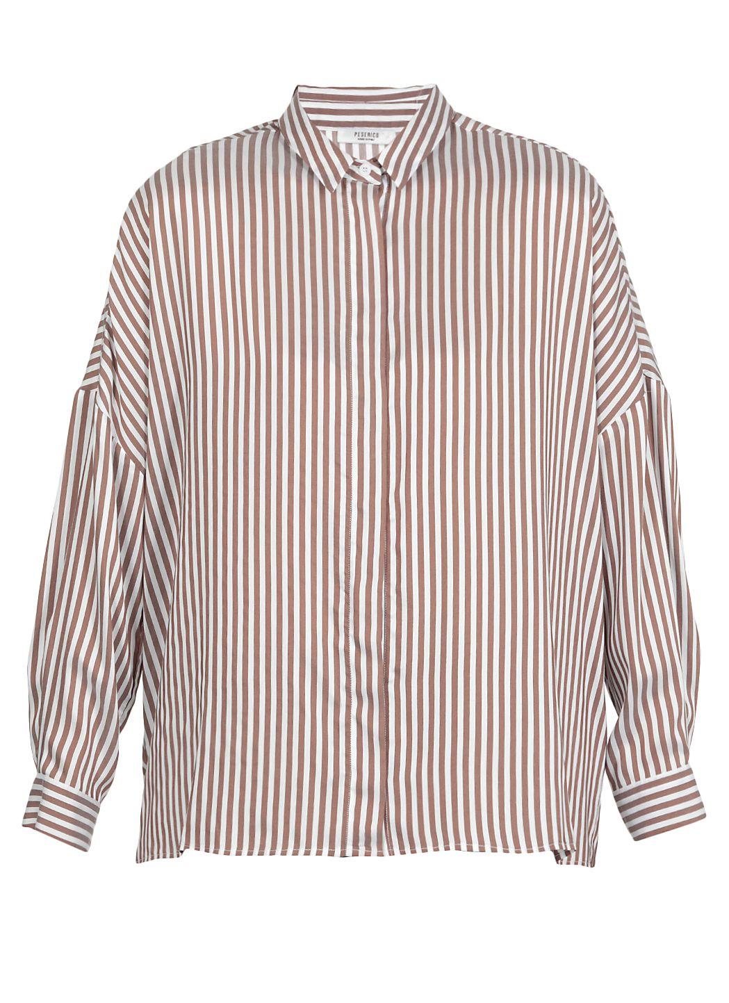 Silk and viscose blend striped shirt