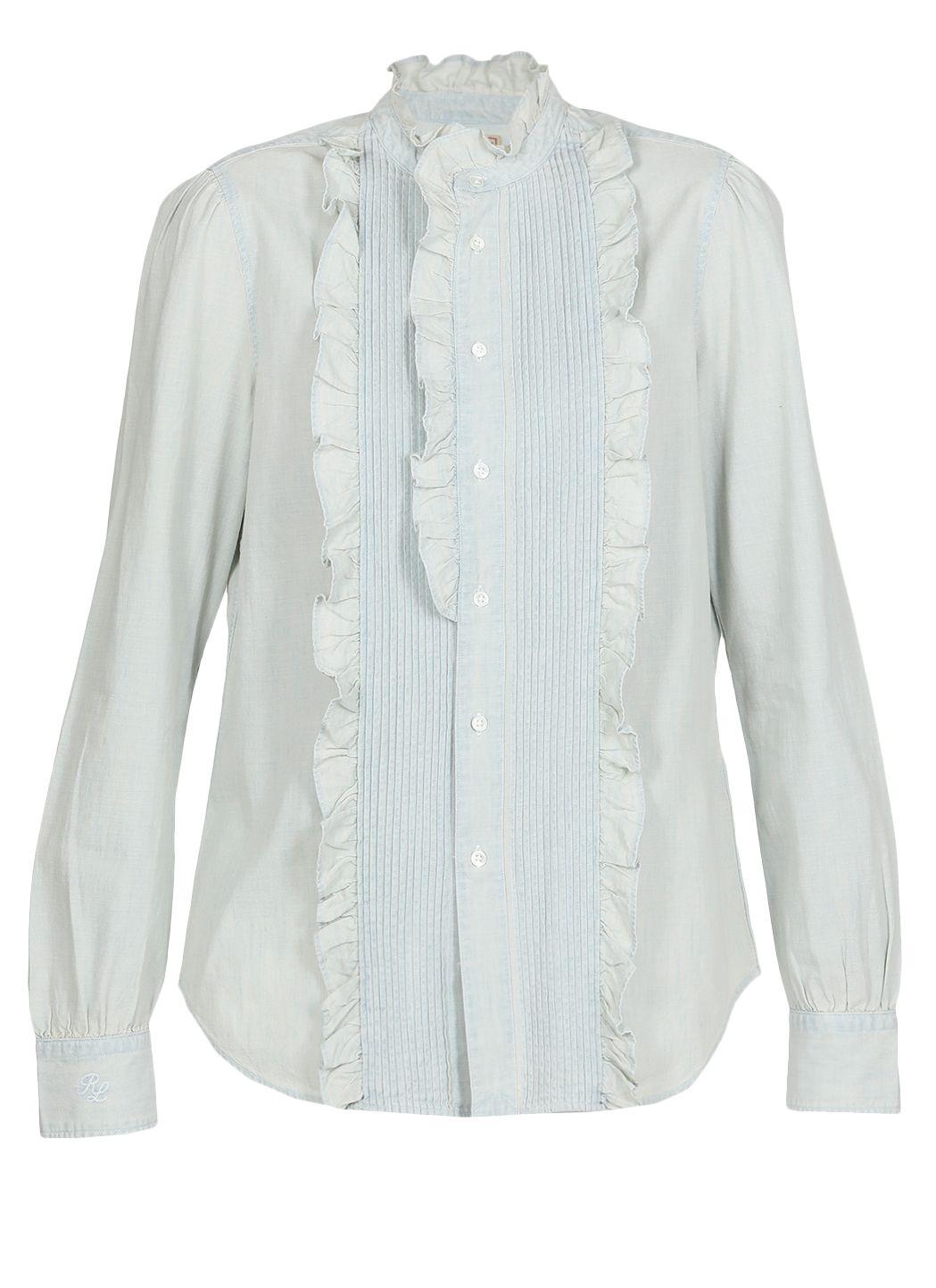 Camicia chambray in cotone