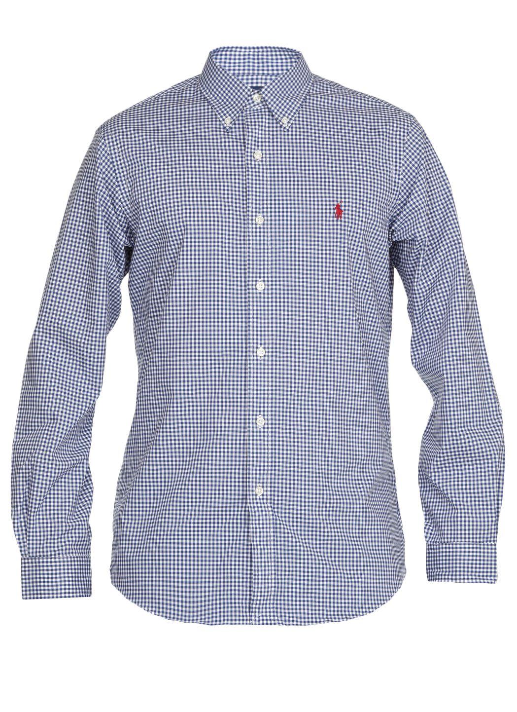 Camicia check in cotone