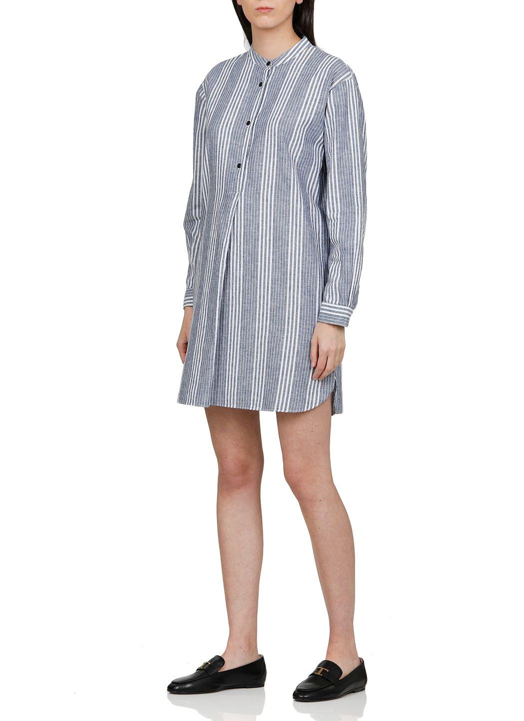 Camicia oversize in lino e cotone