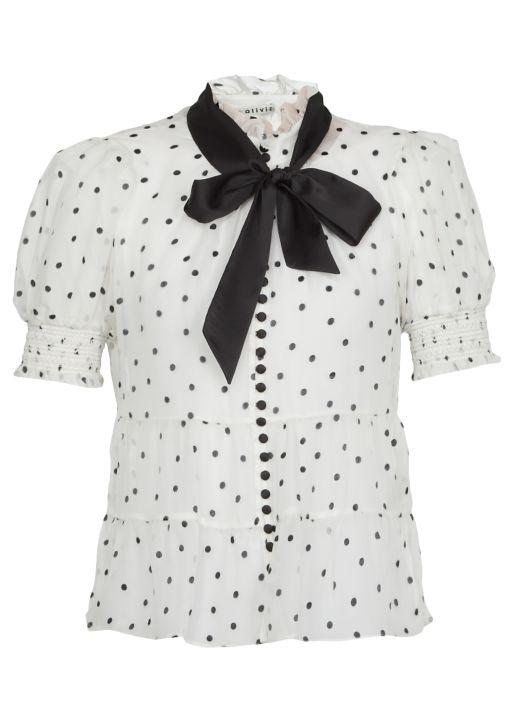 Vicky polka dot blouse