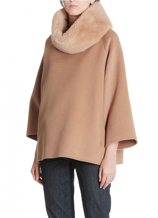 Eco fur neck jacket