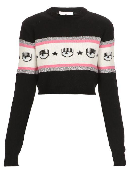 Cropped sweater Logomania