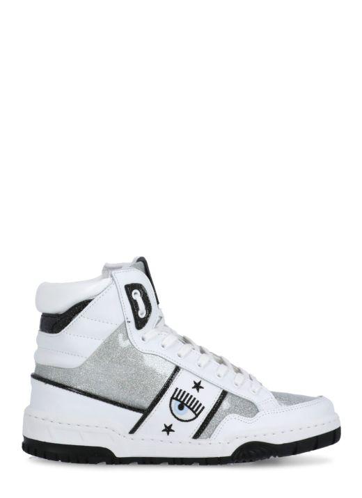 Glittered high top CF-1 sneaker