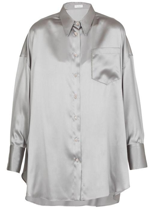 Shirt with 'Shiny Shadow Pocket'