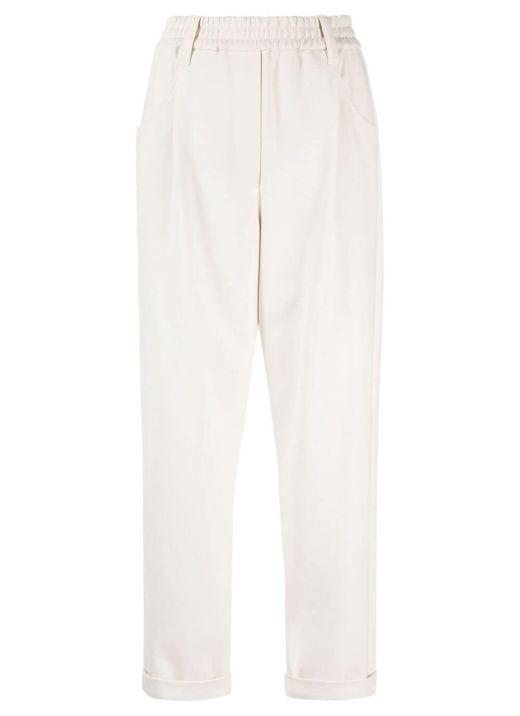 Cotton blend elasticated pants