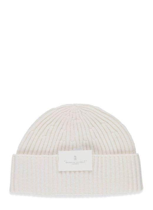 Cappello di maglia in cashmere