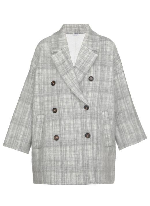 Check Intarsia Coat