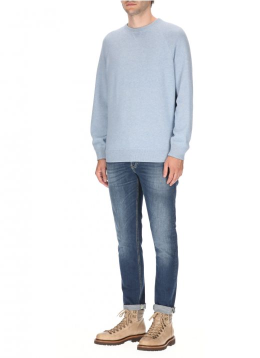 Wool, cashmere and silk sweater