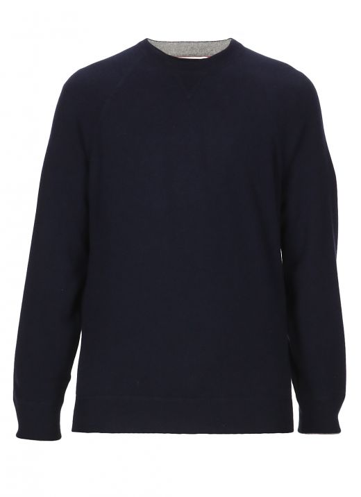 Virgin wool and cashmere sweater