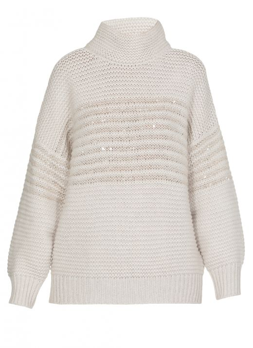 Virgin wool, cashmere and silk sweater