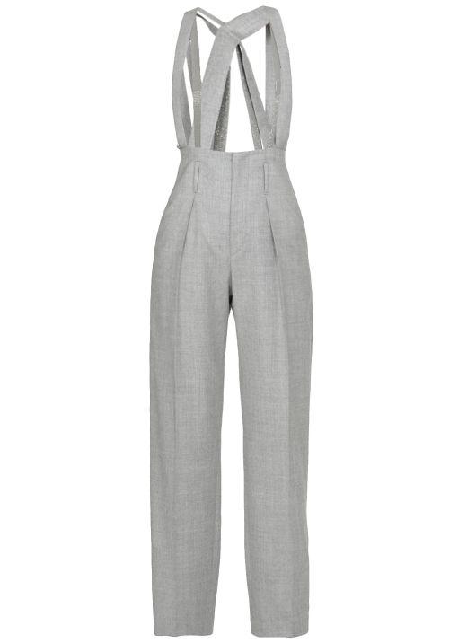 Trousers wirh suspenders