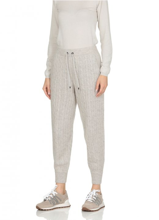 Sparkling Cable knitted pants