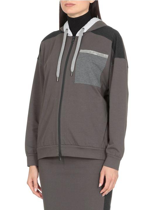 Lightweight sweatshirt Paneled Topwear