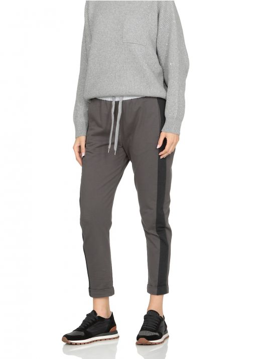 Pants with contrasting side bands