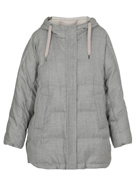 Sparkling flannel down jacket