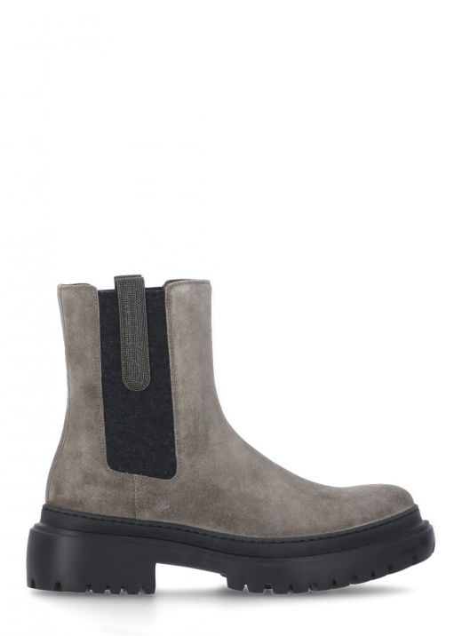 Leather chelsea boot with 'Precious Insert'