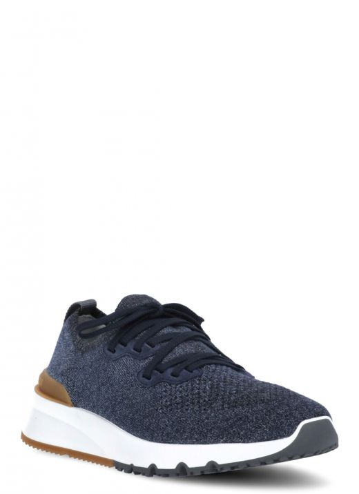 Knitted chine sneaker